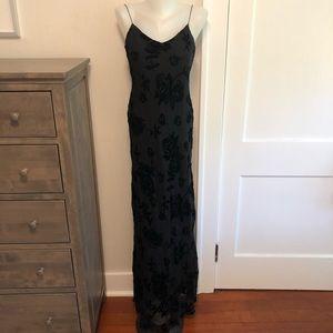 Silk and Velvet Ralph Lauren Gown Dress